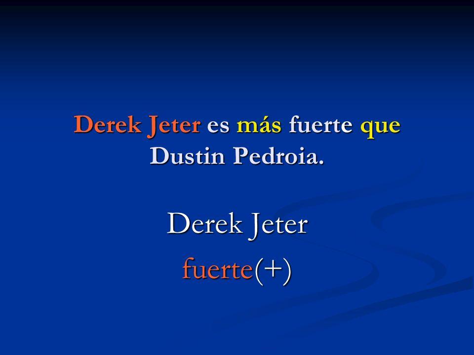 Derek Jeter es más fuerte que Dustin Pedroia. Derek Jeter fuerte(+)