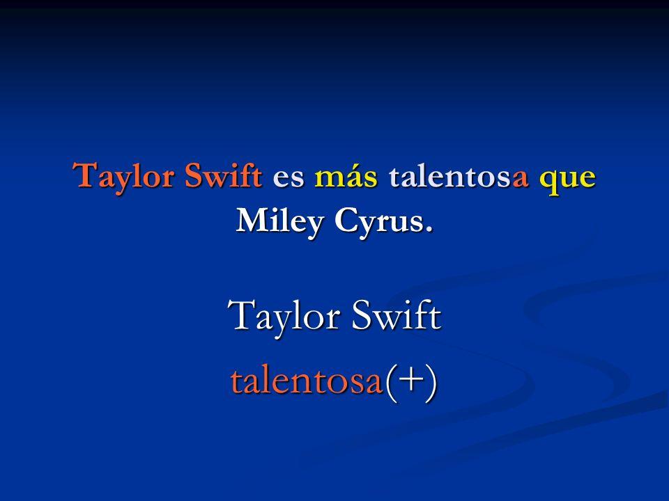 Taylor Swift es más talentosa que Miley Cyrus. Taylor Swift talentosa(+)