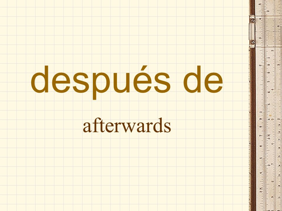 después after