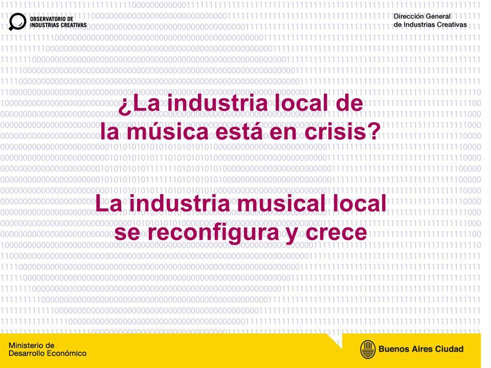 ¿La industria de la música esta en crisis.