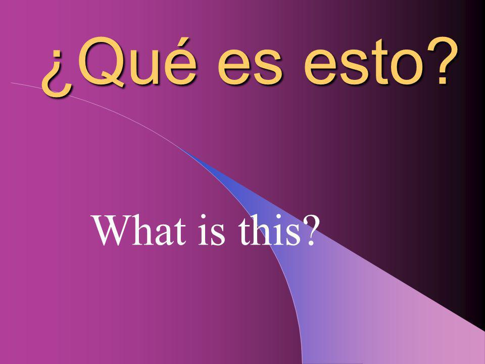 Es un(a) Its a...