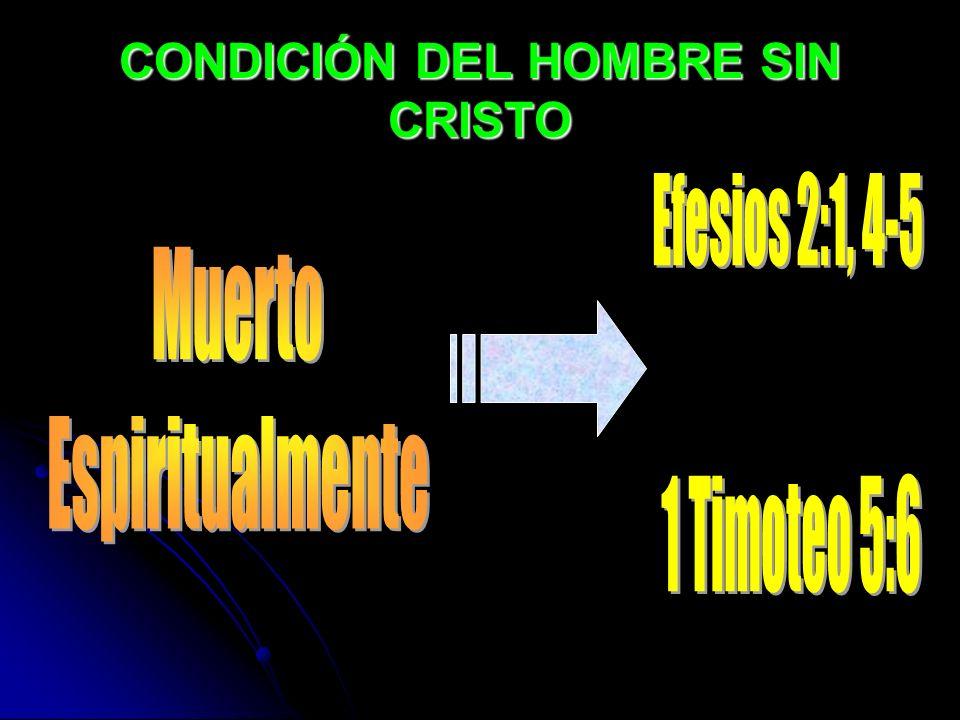 CONDICIÓN DEL HOMBRE SIN CRISTO