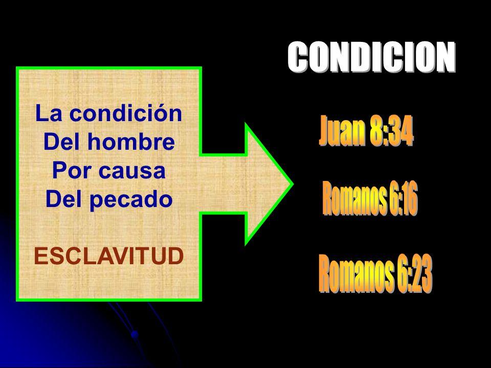 La condición Del hombre Por causa Del pecado ESCLAVITUD
