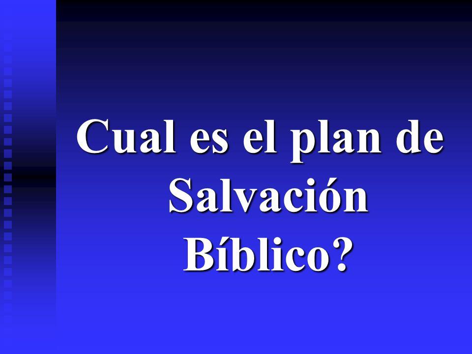 Cual es el plan de Salvación Bíblico?
