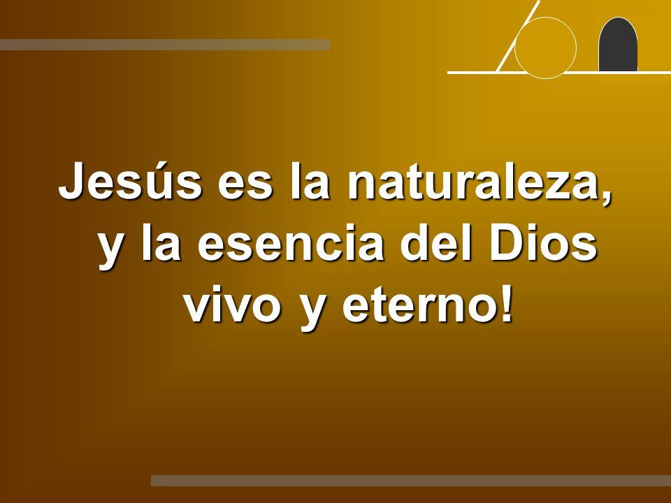 Jesús es la naturaleza, y la esencia del Dios vivo y eterno!