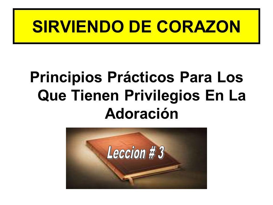SIRVIENDO DE CORAZON Principios Prácticos Para Los Que Tienen Privilegios En La Adoración
