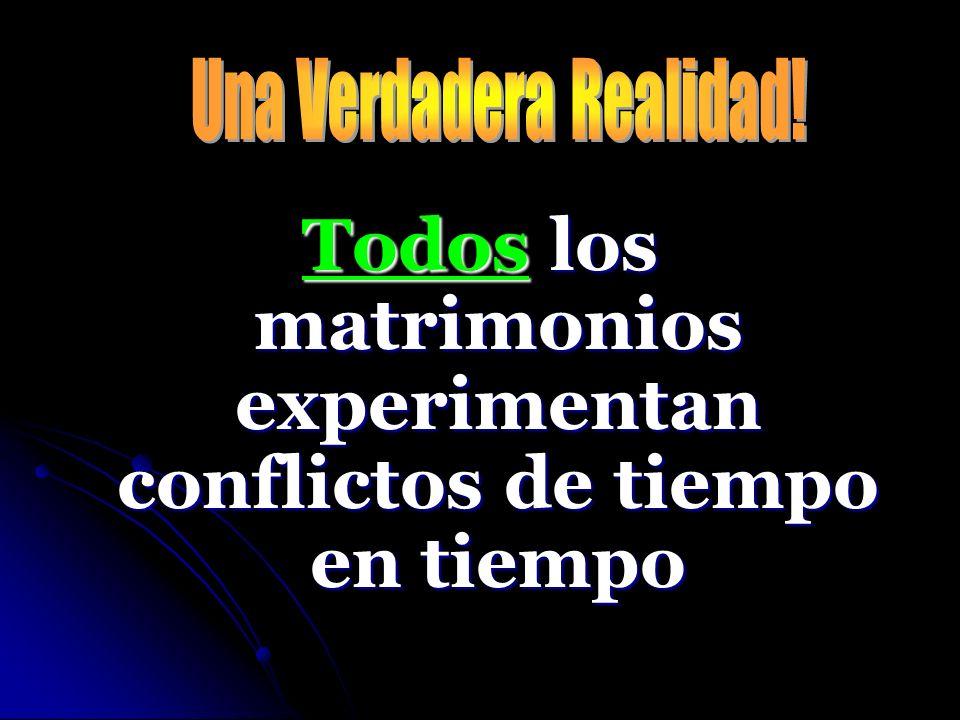 Si no sabemos como resolver conflictos, nuestro matrimonio sera destruido!