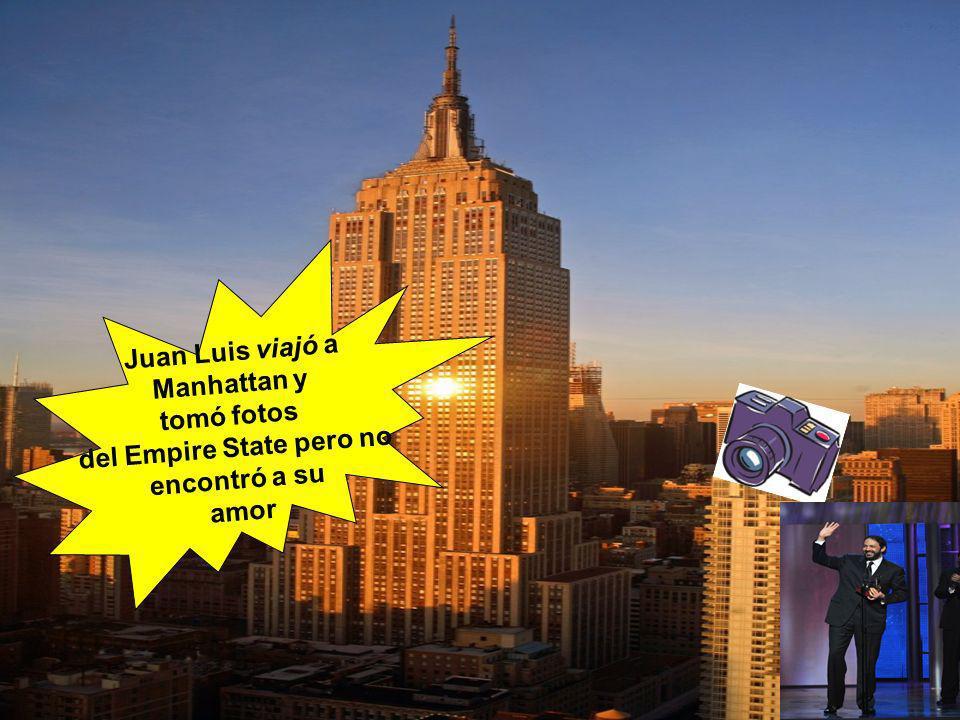 Juan Luis viajó a Manhattan y tomó fotos del Empire State pero no encontró a su amor