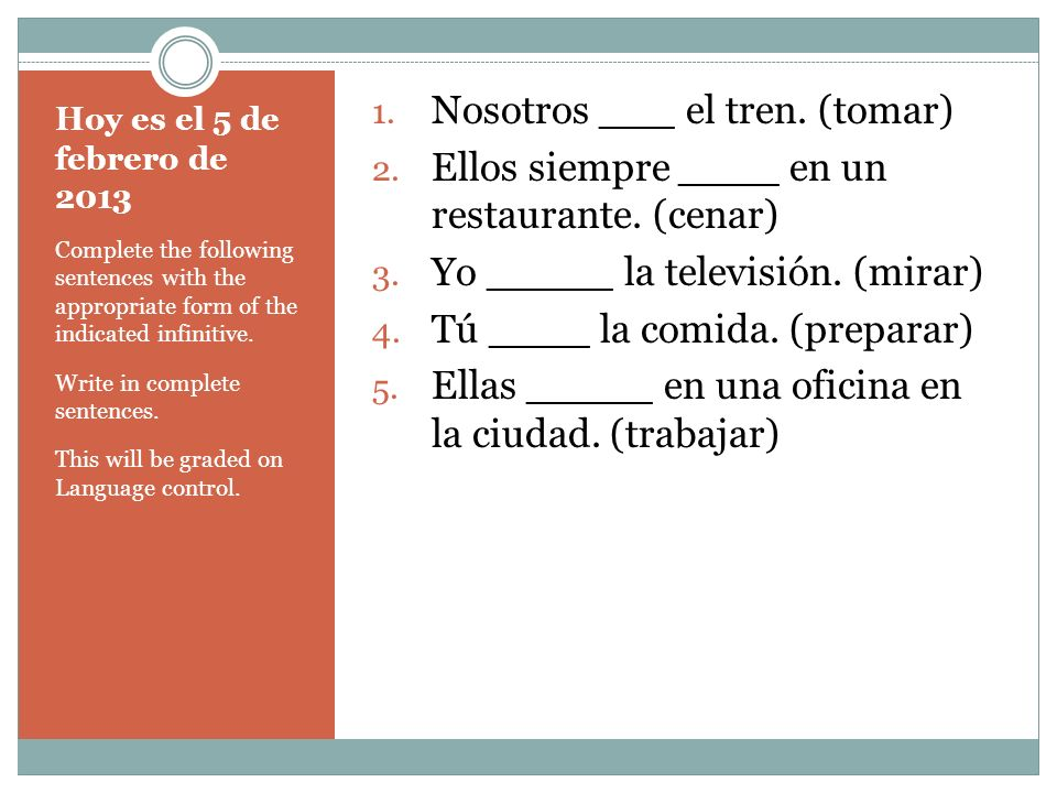 Hoy es el 6 de febrero de 2013 The definite article must be used with titles when talking about someone.