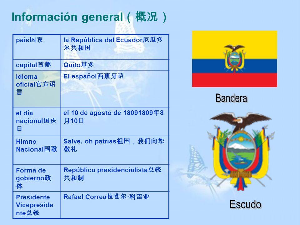 Información general país la República del Ecuador capital Quito idioma oficial El español el día nacional el 10 de agosto de 18091809 8 10 Himno Nacio