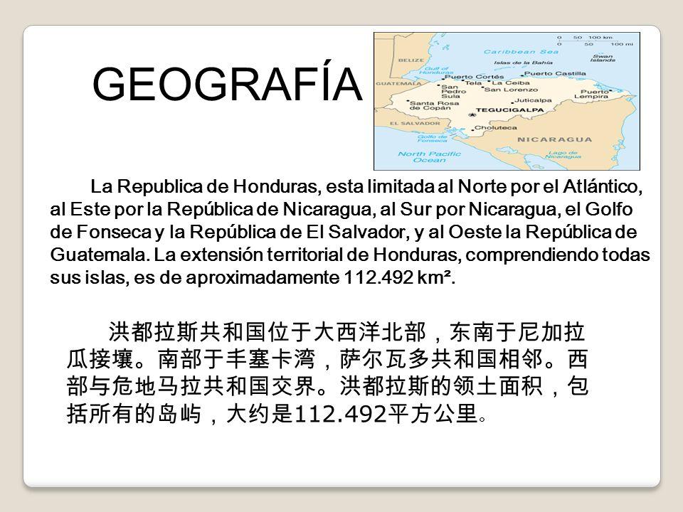 La Republica de Honduras, esta limitada al Norte por el Atlántico, al Este por la República de Nicaragua, al Sur por Nicaragua, el Golfo de Fonseca y