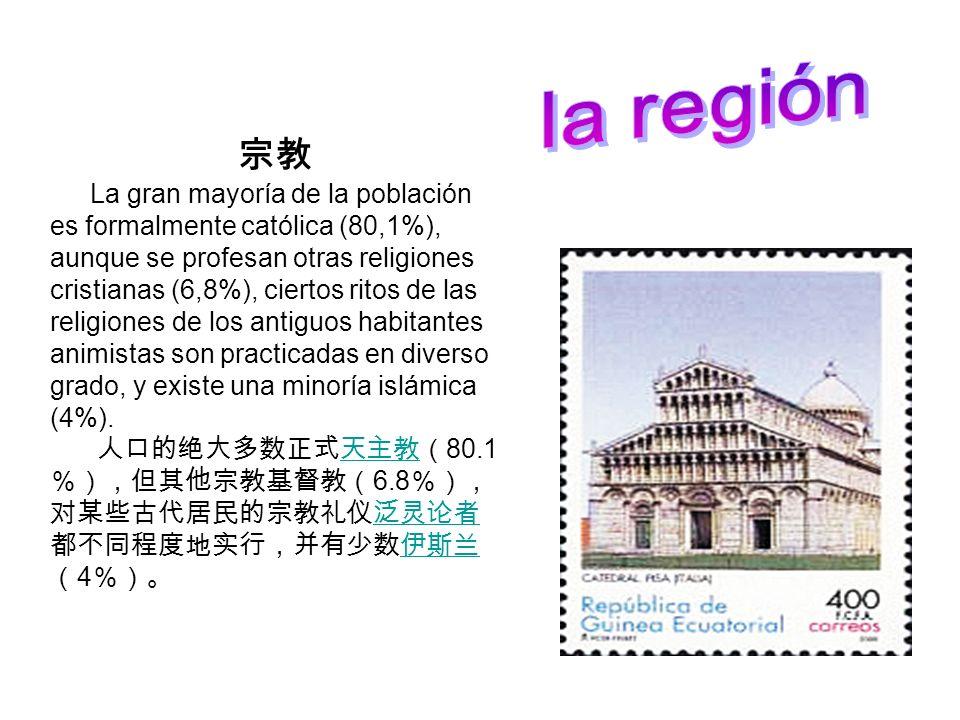 La gran mayoría de la población es formalmente católica (80,1%), aunque se profesan otras religiones cristianas (6,8%), ciertos ritos de las religione