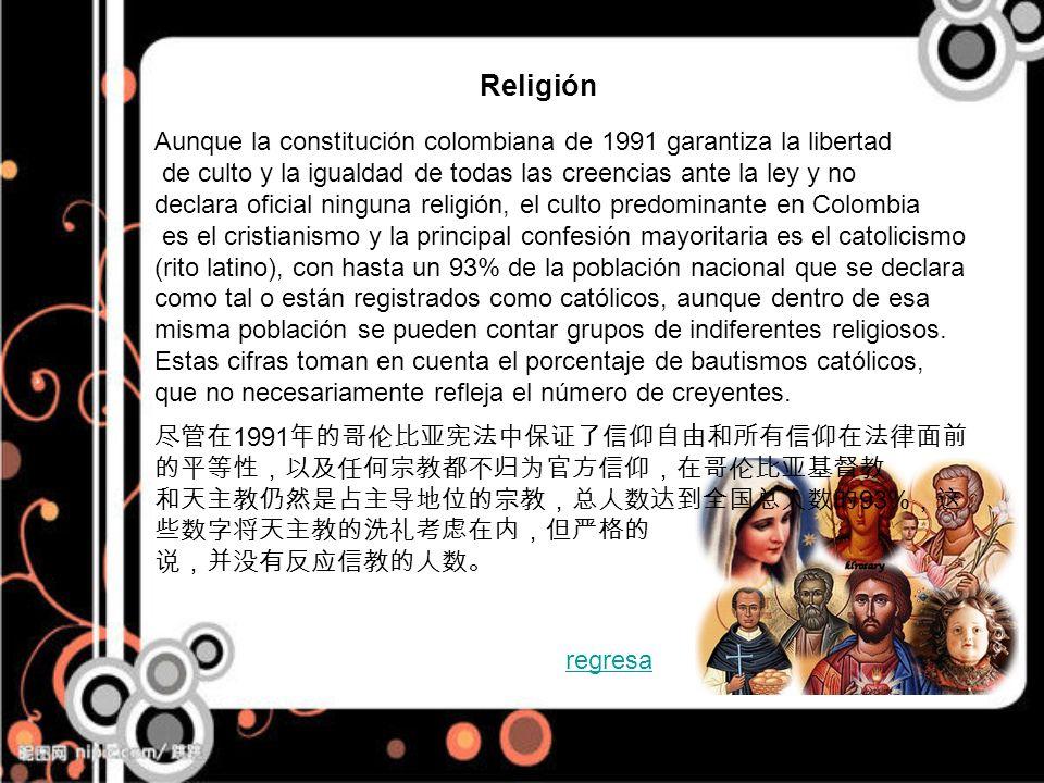 Aunque la constitución colombiana de 1991 garantiza la libertad de culto y la igualdad de todas las creencias ante la ley y no declara oficial ninguna