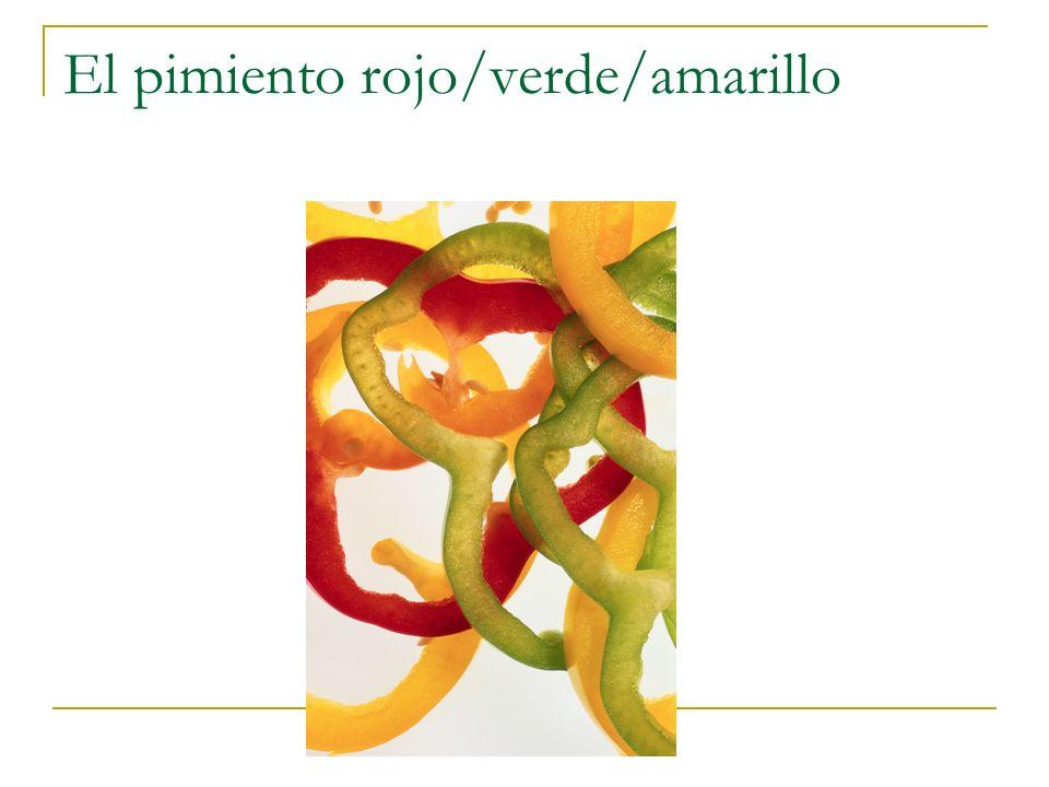 El pimiento rojo/verde/amarillo