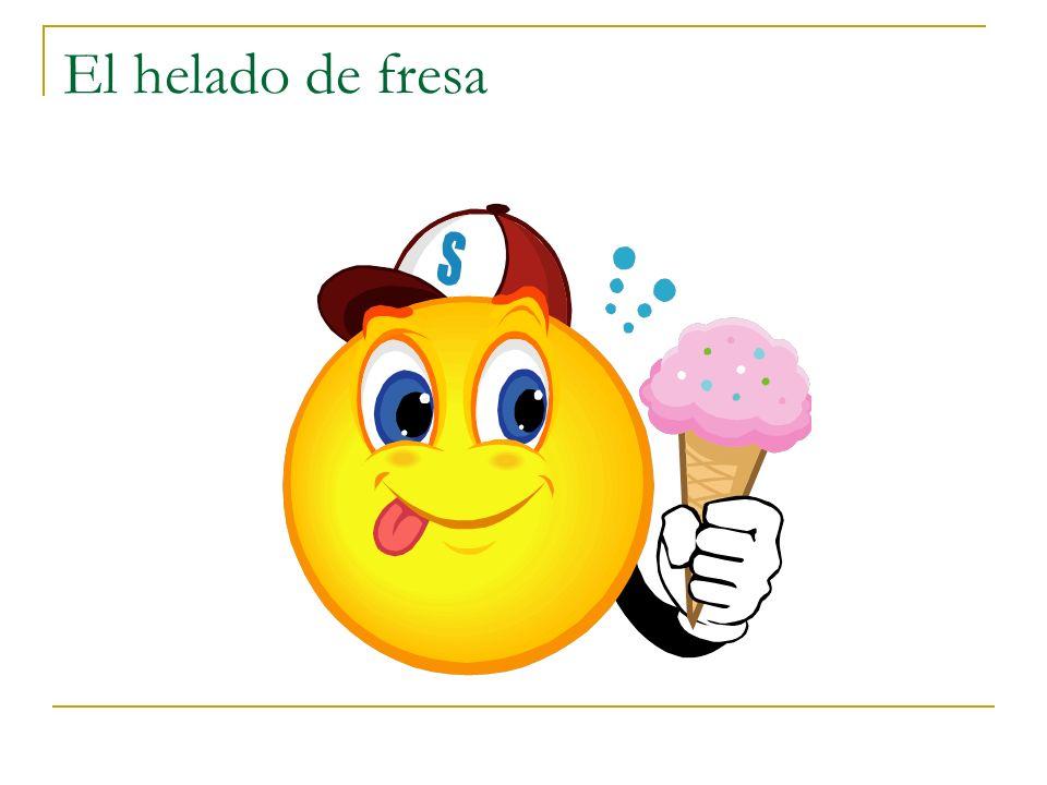 El helado de fresa