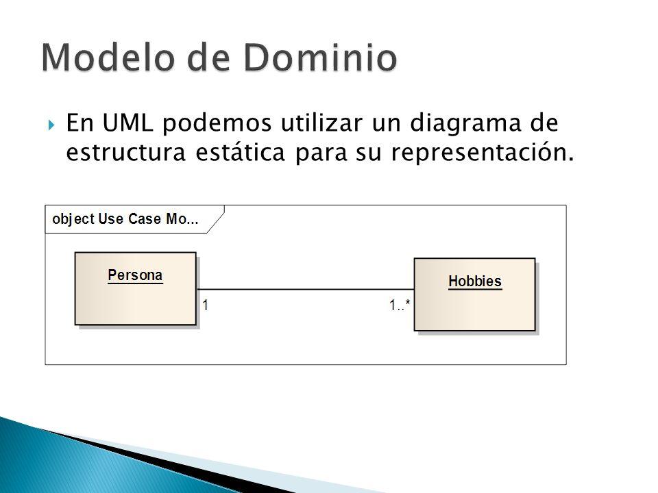 En UML podemos utilizar un diagrama de estructura estática para su representación.