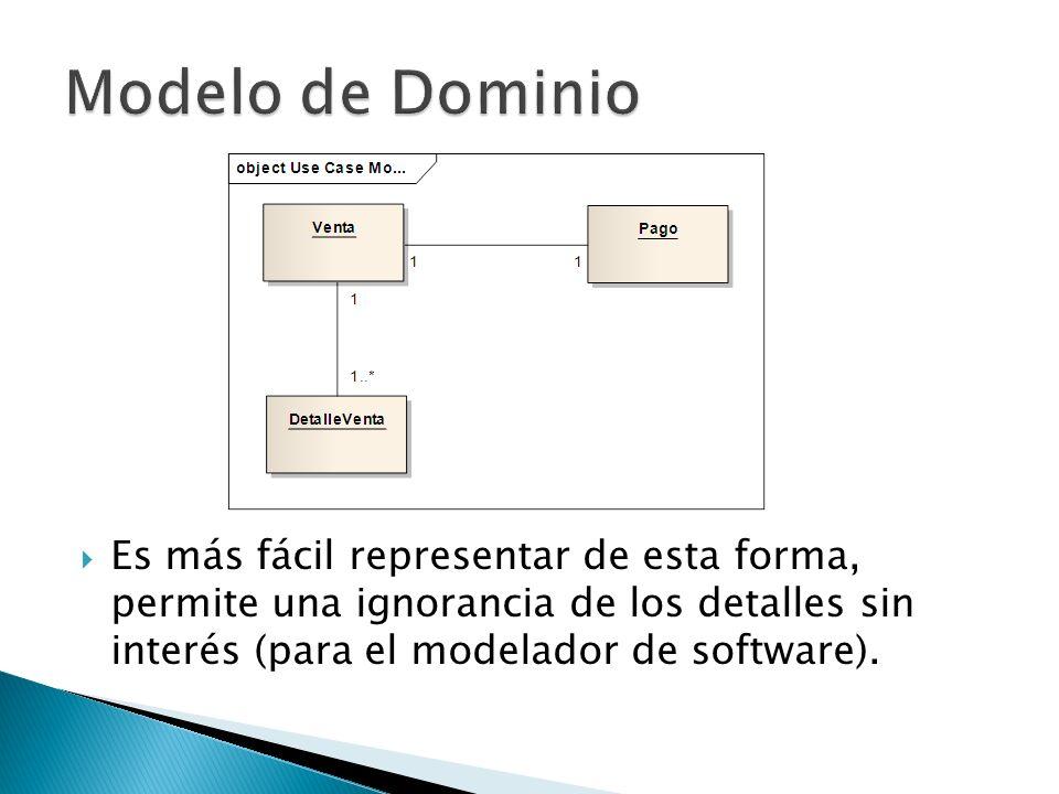 Es más fácil representar de esta forma, permite una ignorancia de los detalles sin interés (para el modelador de software).