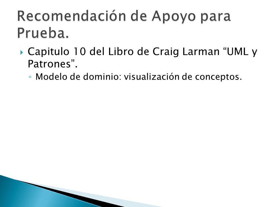 Capitulo 10 del Libro de Craig Larman UML y Patrones. Modelo de dominio: visualización de conceptos.
