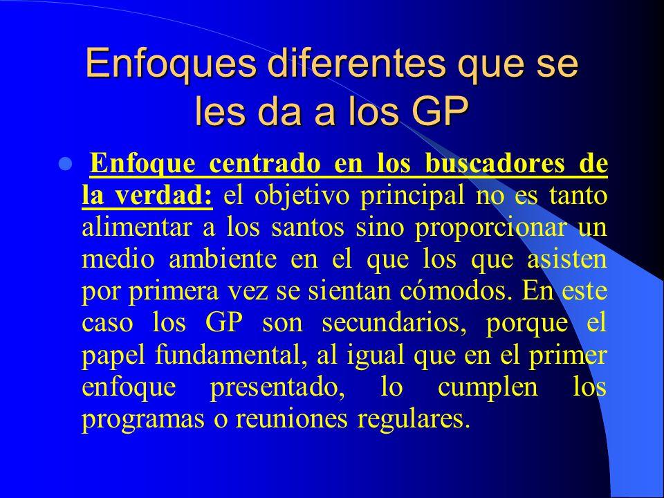 Enfoques diferentes que se les da a los GP Enfoque moderno de la Metaiglesia: el prefijo meta, que viene del griego, significa cambios.