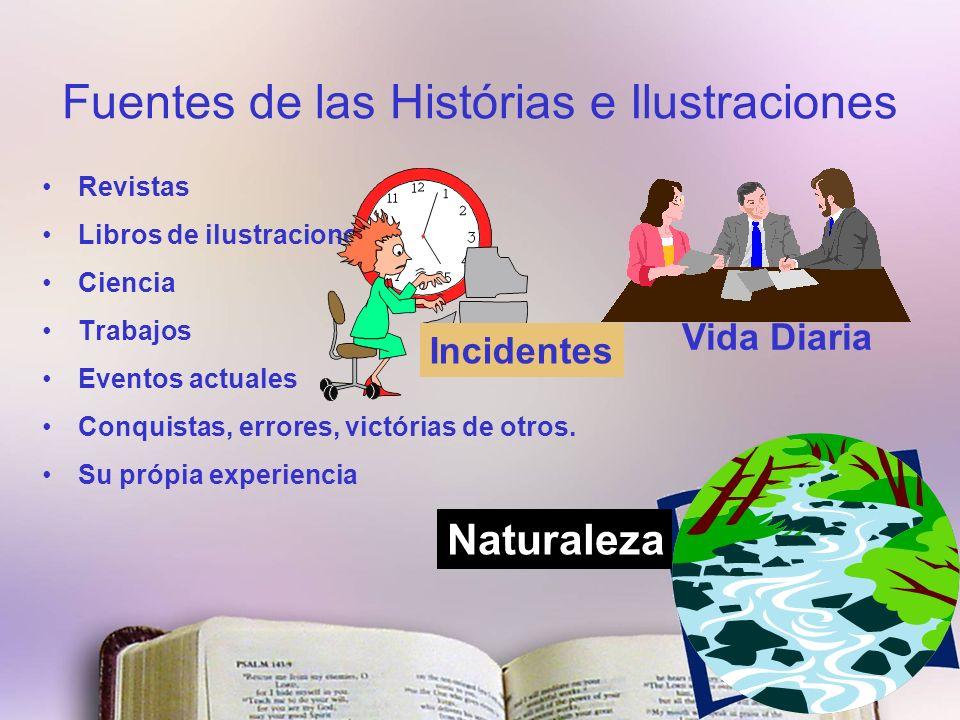 Fuentes de las Histórias e Ilustraciones Revistas Libros de ilustraciones Ciencia Trabajos Eventos actuales Conquistas, errores, victórias de otros.