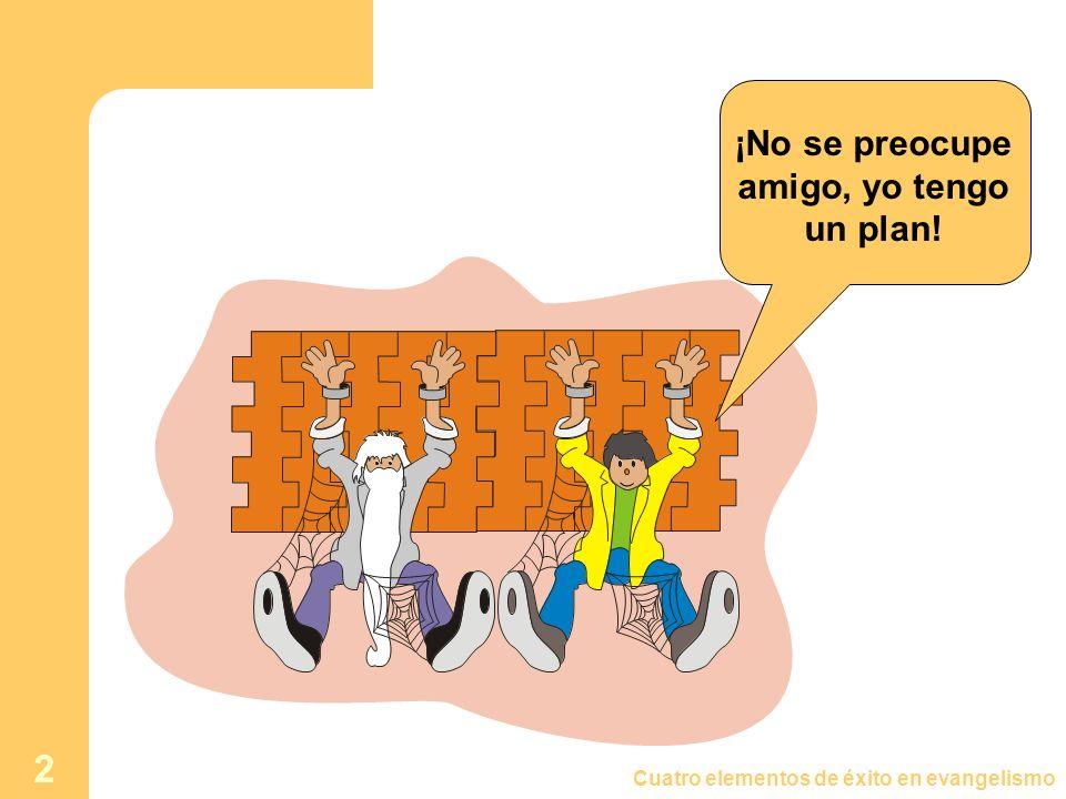 Cuatro elementos de éxito en evangelismo 2 ¡No se preocupe amigo, yo tengo un plan!
