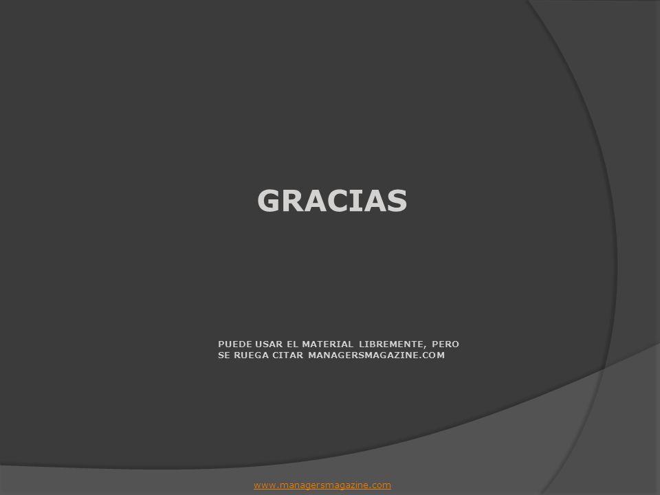 GRACIAS PUEDE USAR EL MATERIAL LIBREMENTE, PERO SE RUEGA CITAR MANAGERSMAGAZINE.COM www.managersmagazine.com
