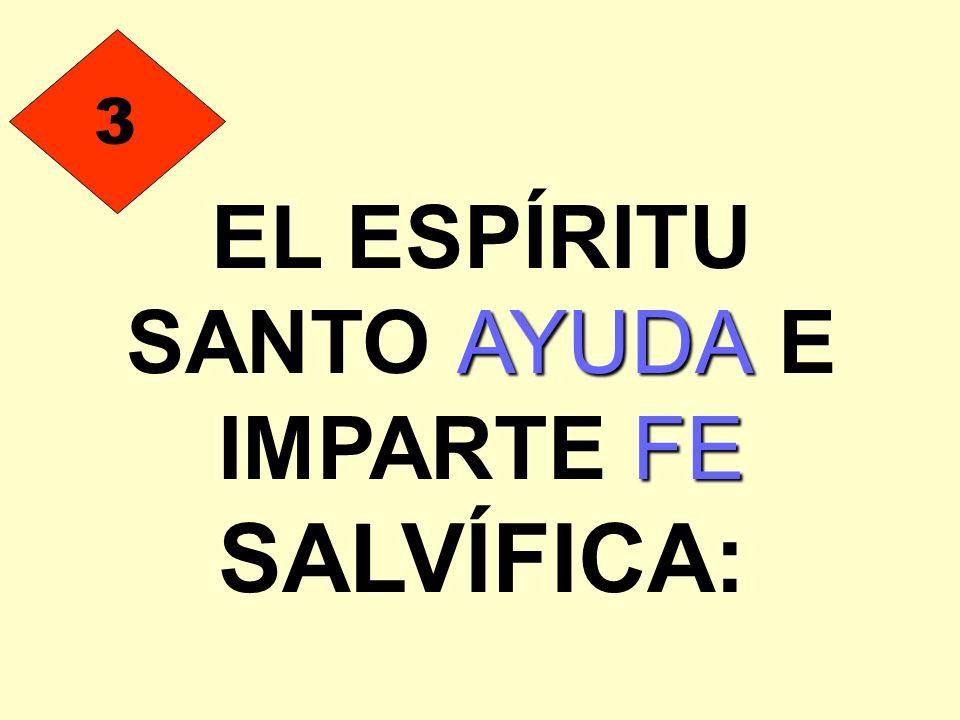 AYUDA FE EL ESPÍRITU SANTO AYUDA E IMPARTE FE SALVÍFICA: 3