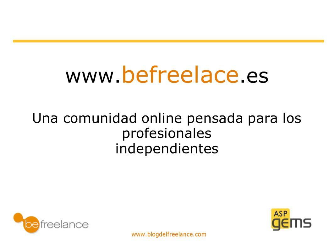www. befreelace.es Una comunidad online pensada para los profesionales independientes