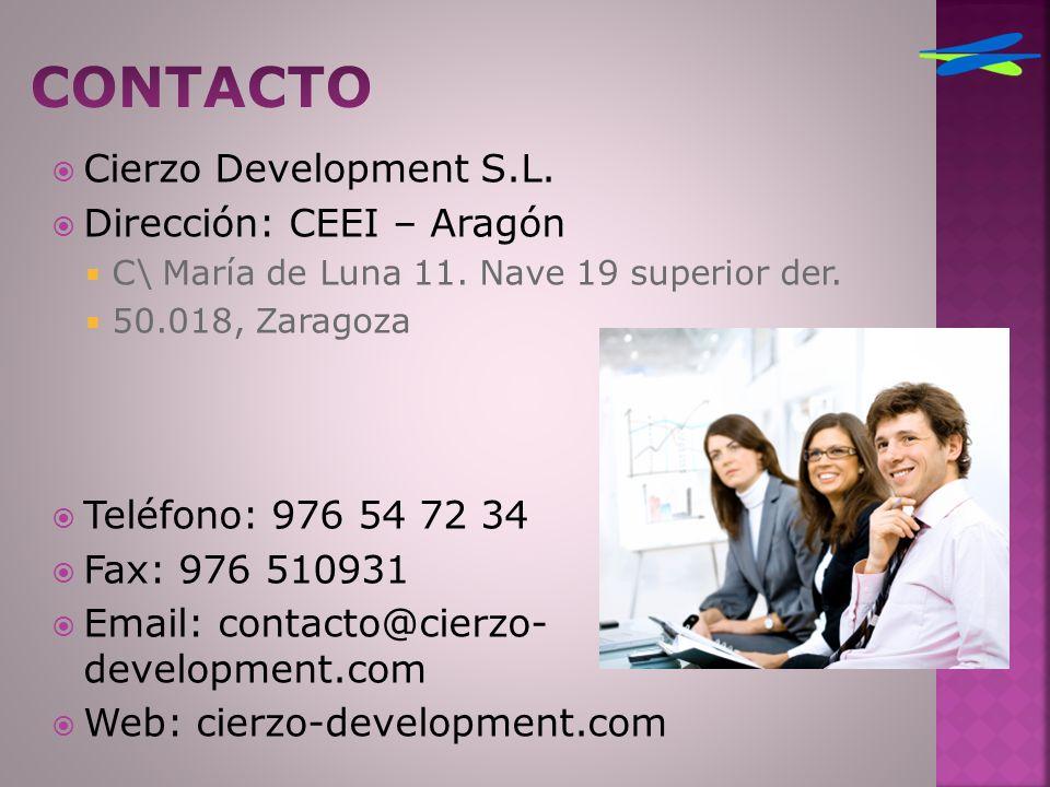 Cierzo Development S.L. Dirección: CEEI – Aragón C\ María de Luna 11.