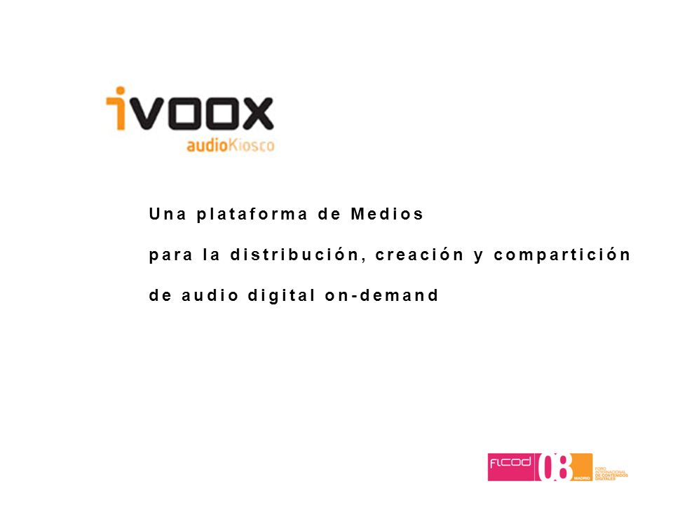 Una plataforma de Medios para la distribución, creación y compartición de audio digital on-demand