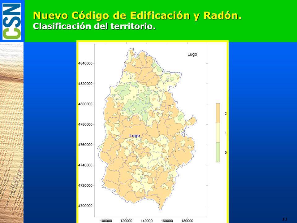 Nuevo Código de Edificación y Radón. Clasificación del territorio. Lugo 13