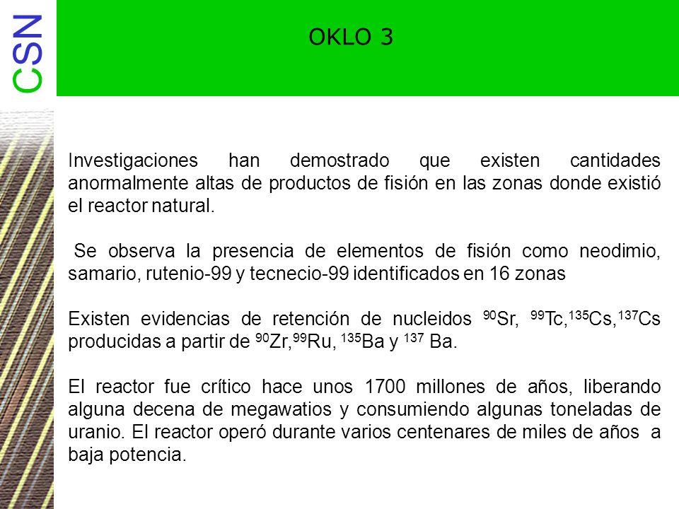 CSN Relación torio/uranio en las rocas Th (ppm) / U (ppm) Mayor que 6 Placeres.