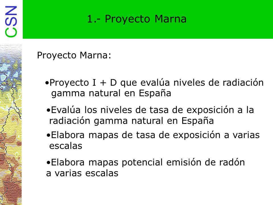 CSN 2.Proyecto Marna Participantes Acuerdo entre el CSN y ENUSA Industrias Avanzadas S.A.