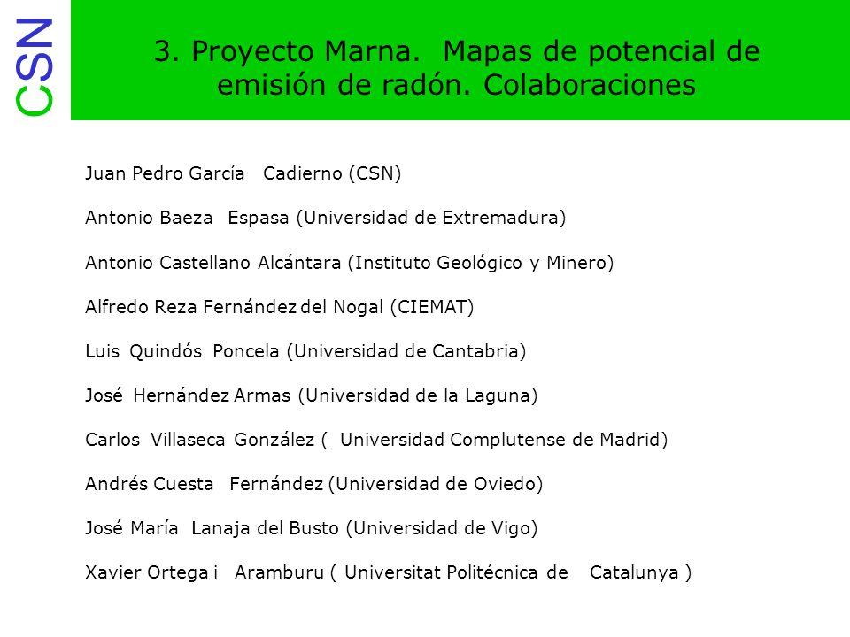 CSN 14.Aplicaciones del Proyecto Marna. mapas de tasa de exposición a diferentes escalas.