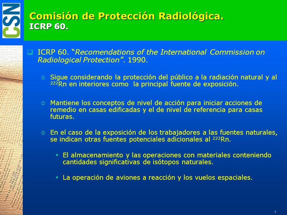 Comisión de Protección Radiológica.ICRP 65.