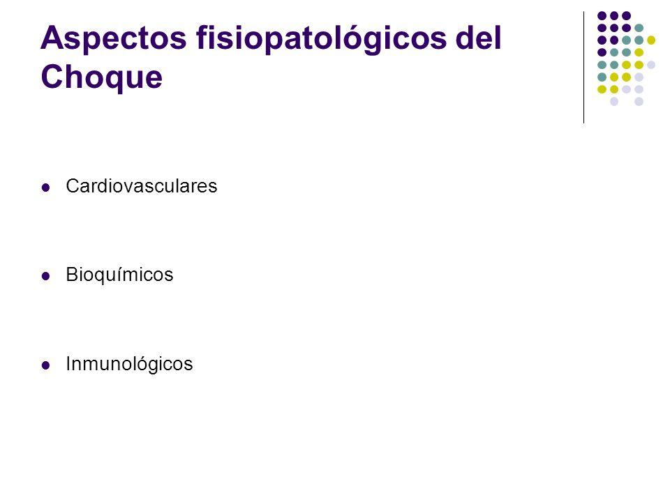 Aspectos fisiopatológicos del Choque Cardiovasculares Bioquímicos Inmunológicos