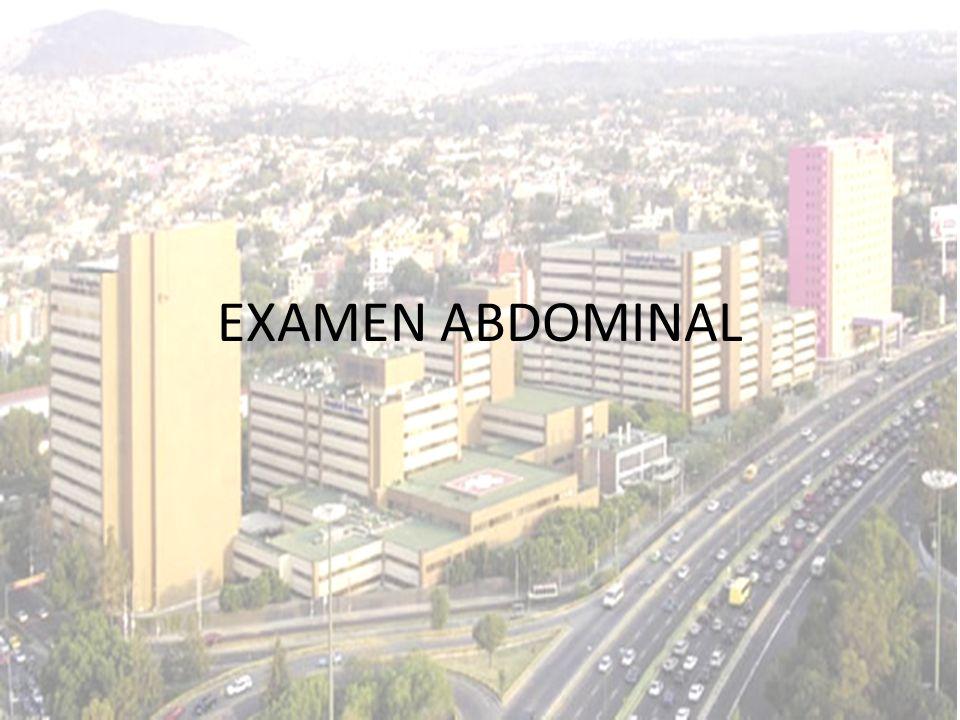 EXAMEN ABDOMINAL