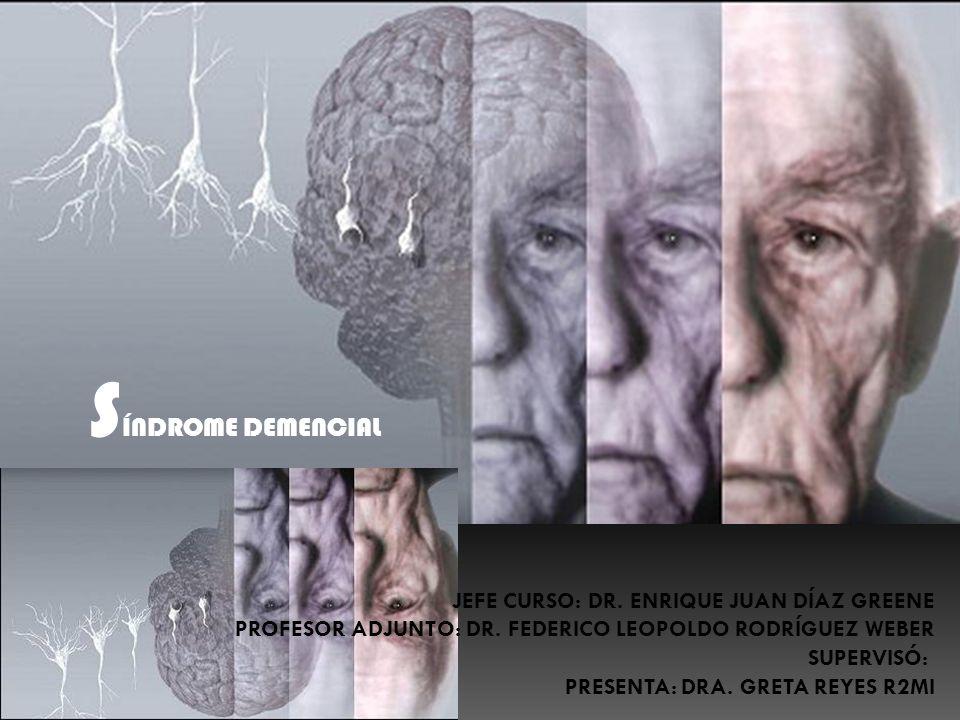 DEFINICIONES Demencia: es un desorden caracterizado por alteración en la memoria y al menos en un dominio cognitivo ( afasia, apraxia, agnosia, función ejecutiva).
