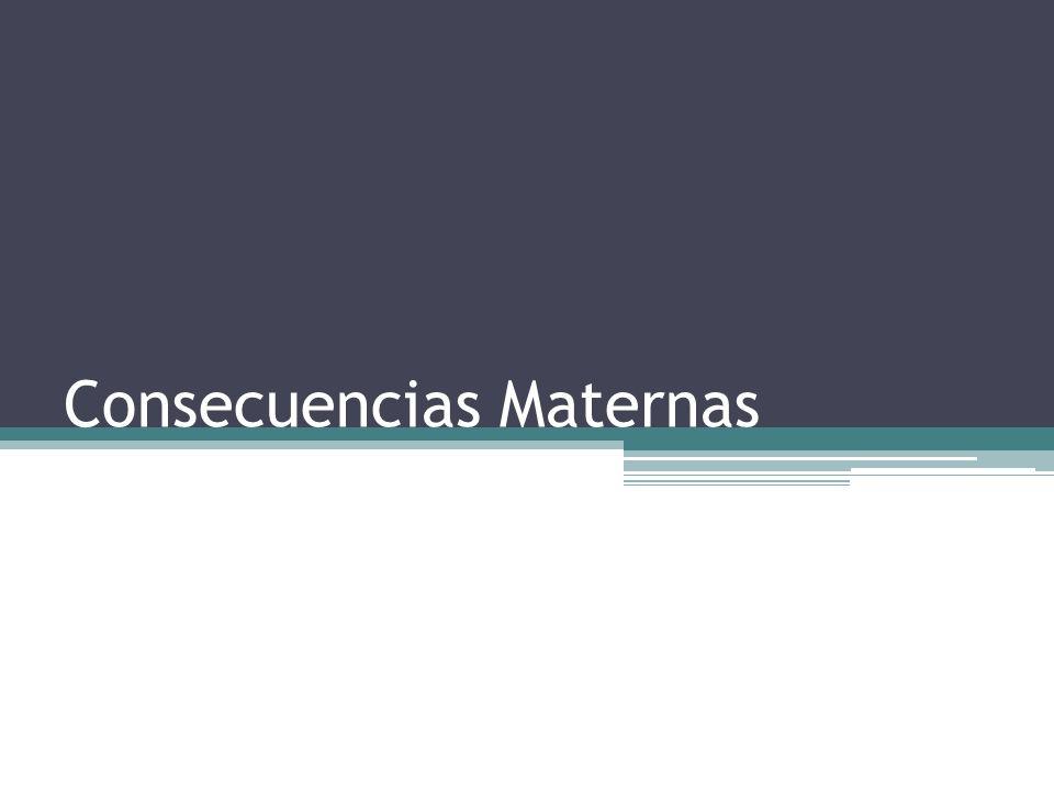 Consecuencias Maternas
