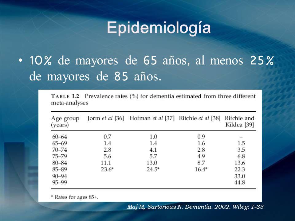 Epidemiología Goetz. Textbook of clinical neurology. 3rd ed. Saunders 2007
