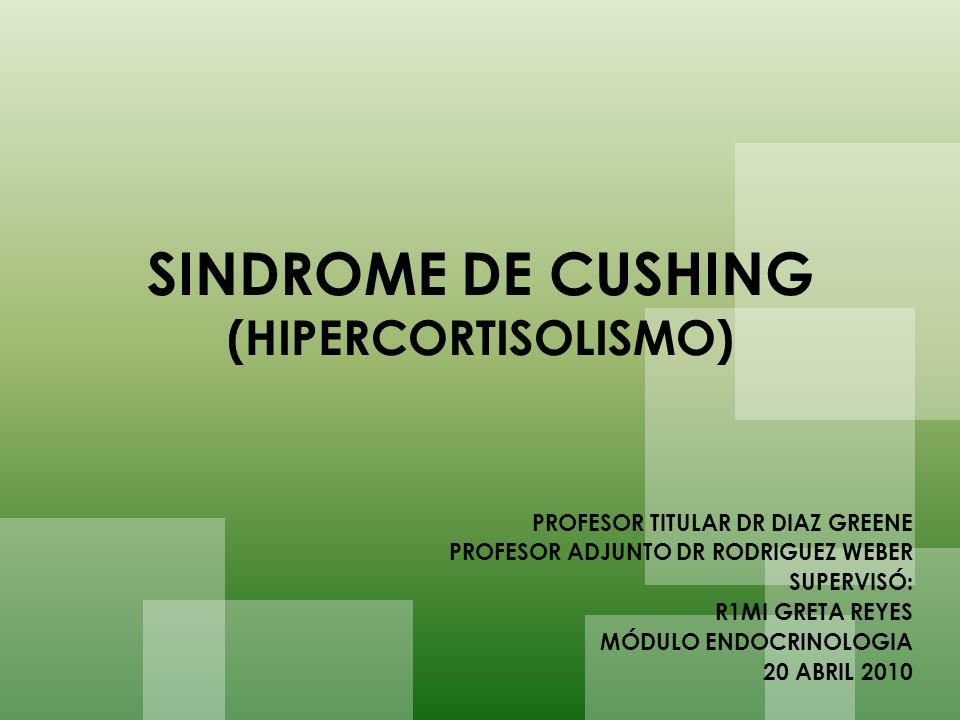 DIAGNÓSTICO DIFERENCIAL SINDROME SEUDO CUSHING Obesidad, alcoholismo, depresión.