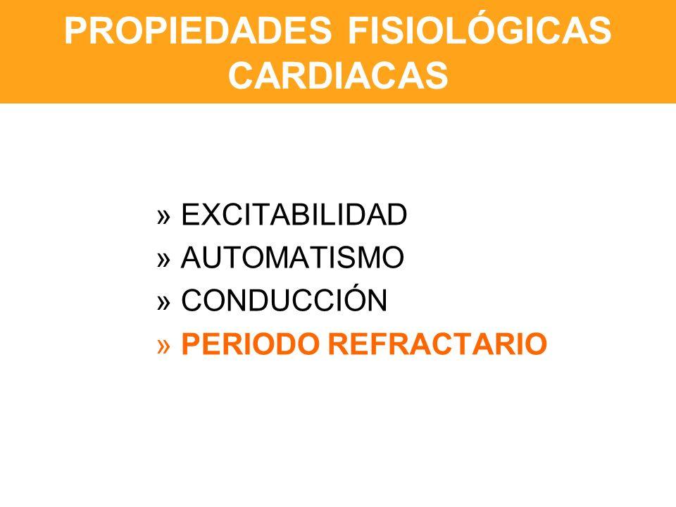 PROPIEDADES FISIOLÓGICAS CARDIACAS » EXCITABILIDAD » AUTOMATISMO » CONDUCCIÓN » PERIODO REFRACTARIO