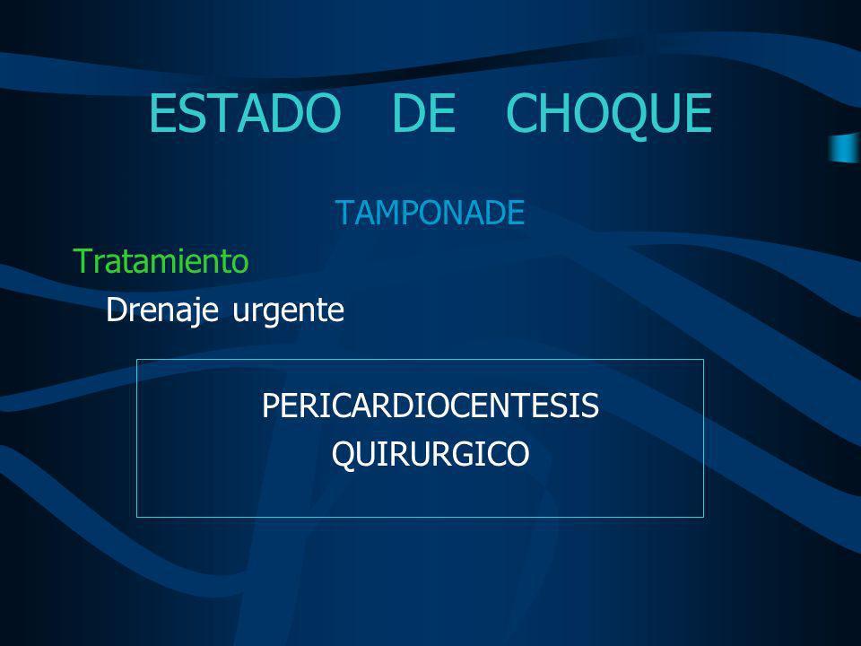 ESTADO DE CHOQUE Pericardiocentesis