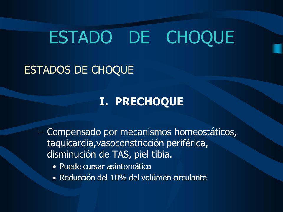 ESTADO DE CHOQUE ESTADOS DE CHOQUE II.