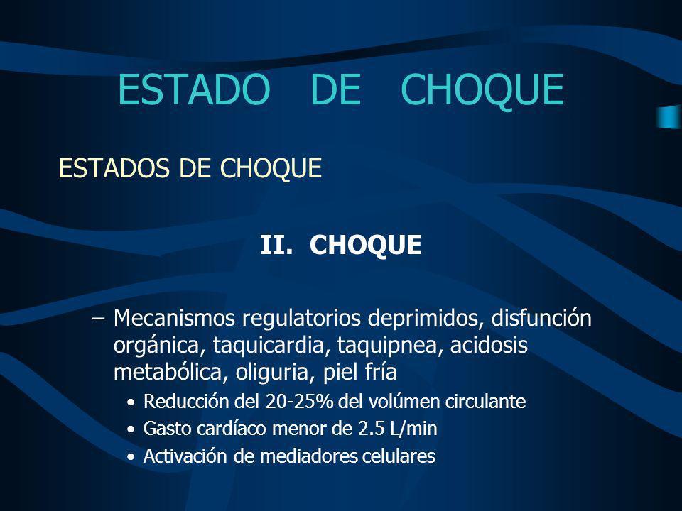 ESTADO DE CHOQUE ESTADOS DE CHOQUE III.