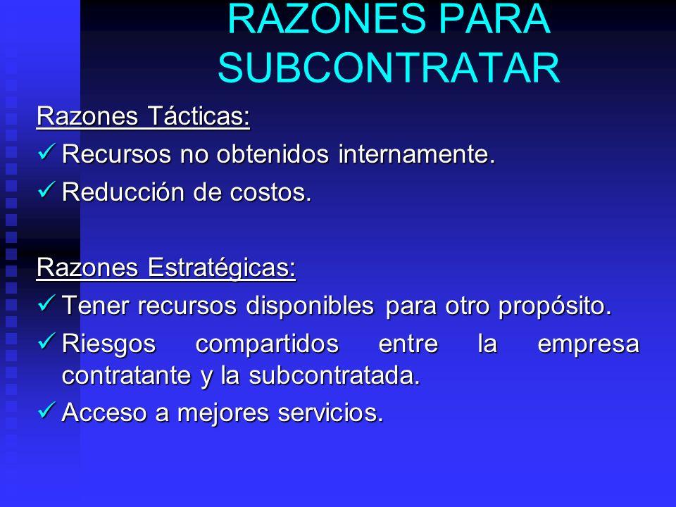 3. DE LA EMPRESA SUBCONTRATADA: Adquiere un compromiso: conforme el servicio a prestar o el subproducto a elaborar, ya que de su cumplimiento depender