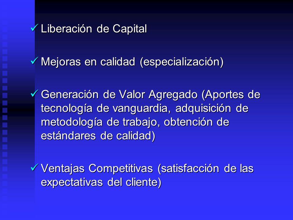 BENEFICIOS Reducción de Costos (Precios externo inferior al costos interno de generación, pasivos laborales). Reducción de Costos (Precios externo inf