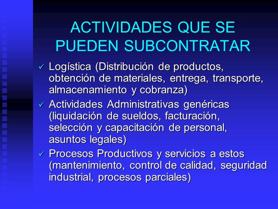 Determinar la extensión del control que se desea, estableciendo los requisitos del subcontratado. Determinar la extensión del control que se desea, es
