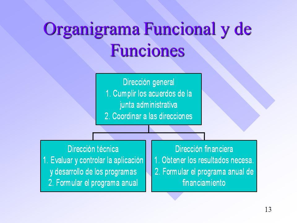 Organigrama Funcional y de Funciones 13