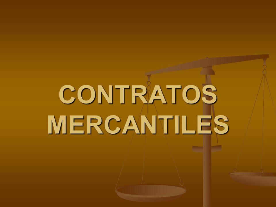 Contratos de Enajenación y Custodia de Cosas Mercantiles